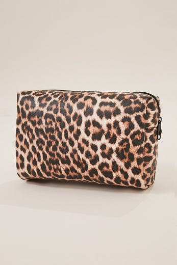 LEOPARD MAKE UP BAG
