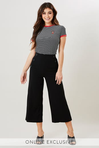 RYLEE BUTTON DETAIL CULOTTE