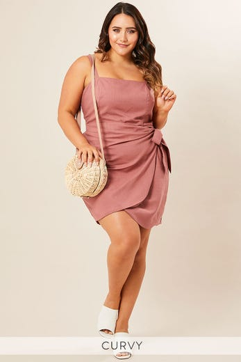 SARITA SHIFT TIE DRESS