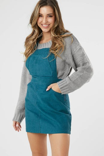 CORD DUNGAREE WITH POCKET