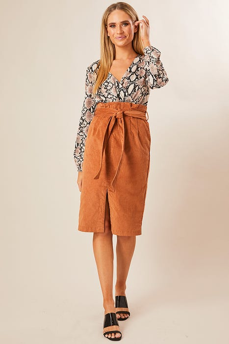 45c71652e800 CORDUROY MIDI SKIRT. Skip to the beginning of the images gallery