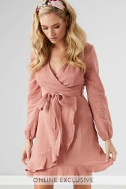 Waiting For You Wrap Dress by Ally Fashion