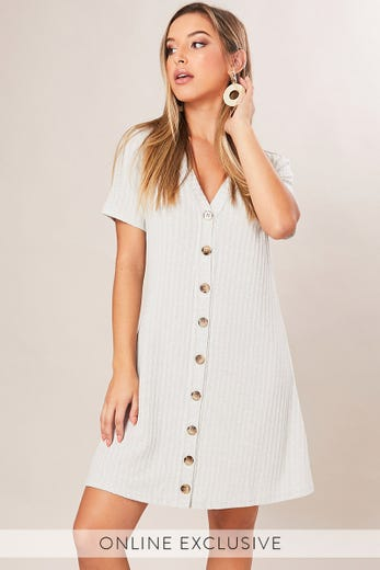 SUNDAY AFTERNOON BUTTON FRONT DRESS