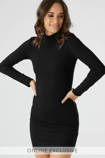 EZRA ROLL NECK DRESS