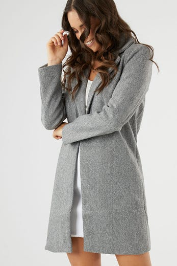 ONE BUTTON COAT