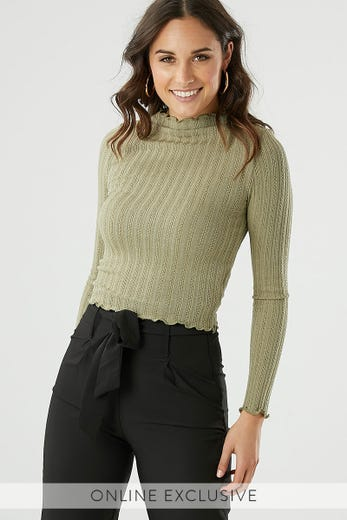 LONG SLEEVE TEXTURED TEE