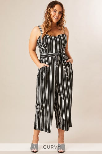 JILLIAN STRETCH 3/4 JUMPSUIT