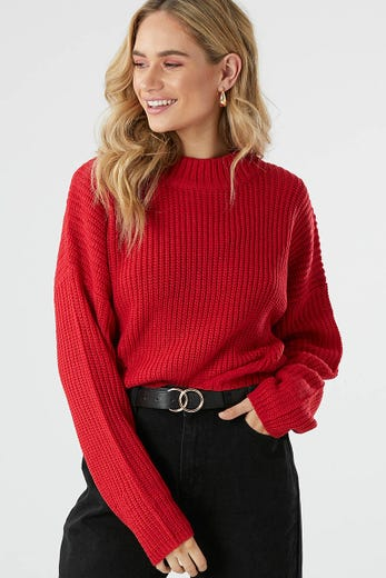 CROP OVERSIZED KNIT