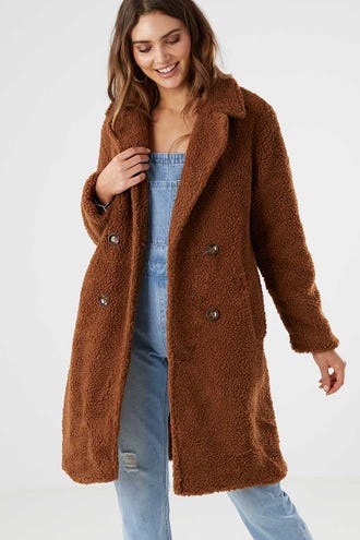 LONGLINE TEDDY COAT