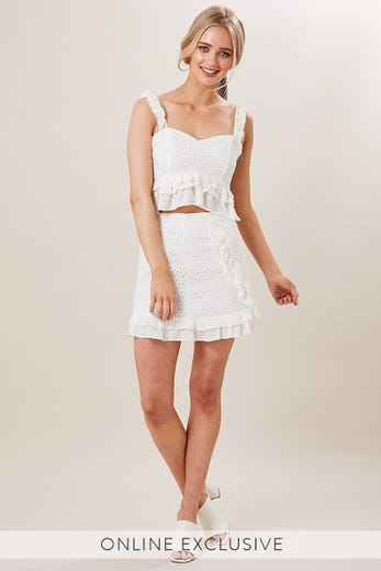 FREQUENCY FRILL SKIRT