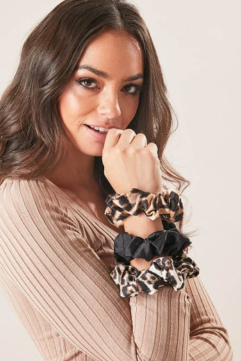 LEOPARD SCRUNCHIE 3 PACK