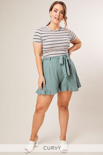 OWEN FRILL DETAIL SHORTS
