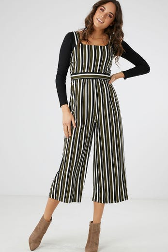 SQUARE NECK STRETCH JUMPSUIT